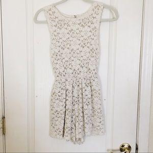 White floral lace romper!